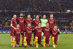 February 12, 2019 - Roma, Roma, Italia - Foto Luciano Rossi/AS Roma/ LaPresse.12/02/2019 Roma (Italia).Sport Calcio.AS Roma - Porto  .Uefa Champions League 2018 2019 - Stadio Olimpico di Roma.Nella foto: La formazione dell'AS Roma prima della partita..Photo  Luciano Rossi/AS Roma/ LaPresse.12/02/2019 Roma (Italia).Sport Soccer.AS Roma - Porto   .Uefa Champions League 2018 2019 - Olimpic Stadium of Roma (Italy).In the pic: The AS Roma line up before the match (Credit Image: © Luciano Rossi/Lapresse via ZUMA Press)