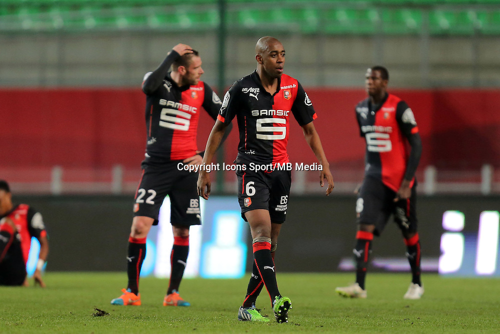Sylvain ARMAND  / Gelson FERNANDES   - 25.01.2015 - Rennes / Caen  - 22eme journee de Ligue1<br />Photo : Vincent Michel / Icon Sport
