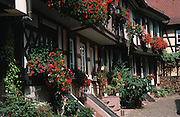 Deutschland, Germany,Baden-Wuerttemberg.Schwarzwald.Gengenbach, Fachwerkstadt, Engelgasse.Gengenbach, timber framed houses, Angel Street...