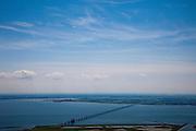 Nederland, Zeeland, Oosterschelde, 12-06-2009; Zeelandbrug van Schouwen-Duiveland naar Noord-Beveland, oeververbinding over het water van de Oosterschelde. Verkeerbrug, autoweg N 256. Op het tweede plan Zuid-Beveland en Walcheren (rechts) met daar weer achter en aan de horizon de Westerschelde.Crossing over the waters of the Oosterschelde (East Scheldt). Traffic Bridge,.luchtfoto (toeslag), aerial photo (additional fee required).foto/photo Siebe Swart