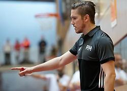 BERLIN - Indoor Hockey World Cup<br /> South Africa - Belgium<br /> foto: Umpire Michael Eilmer<br /> WORLDSPORTPICS COPYRIGHT FRANK UIJLENBROEK