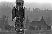 Totem pole, Kispiox, Skeena Valley, British Columbia, Canada