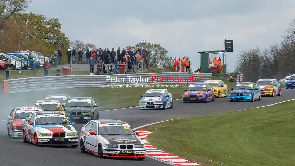 #64 Steven DAILLY BMW E36 Compact 318Ti  during Nankang Tyre BMW Compact Cup  as part of the BRSCC Fun Cup Race Day at Oulton Park, Little Budworth, Cheshire, United Kingdom. April 13 2019. World Copyright Peter Taylor/PSP. Copy of publication required for printed pictures.