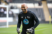 Derby County goalkeeper Lee Grant (1)  during the Sky Bet Championship play-off 2nd leg match between Hull City and Derby County at the KC Stadium, Kingston upon Hull, England on 17 May 2016. Photo by Simon Davies.