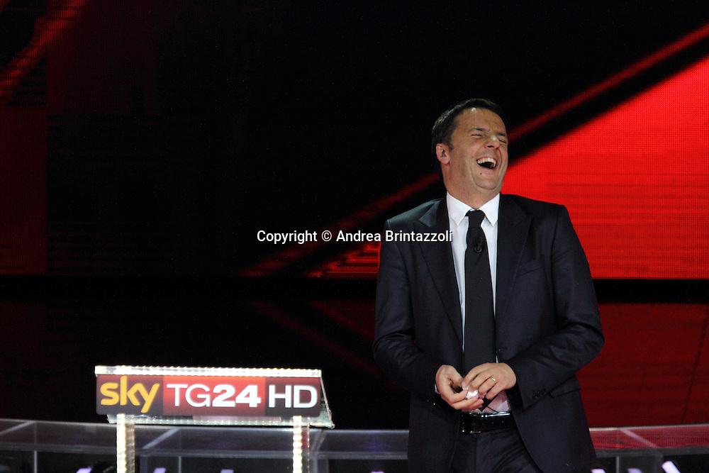 Milano, 29 Novembre 2013. Il confronto tra i candidati PD.<br /> Matteo Renzi