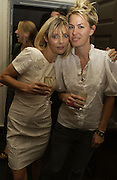 Jemima French and Claire Durkin, Franc Roddam and Frost French host a party to celebrate the publication of ' Margarita's Olive Press' by Rodney Shileds. 1 Greek St. Soho Sq. London. 15 September 2005.  ONE TIME USE ONLY - DO NOT ARCHIVE  © Copyright Photograph by Dafydd Jones 66 Stockwell Park Rd. London SW9 0DA Tel 020 7733 0108 www.dafjones.com