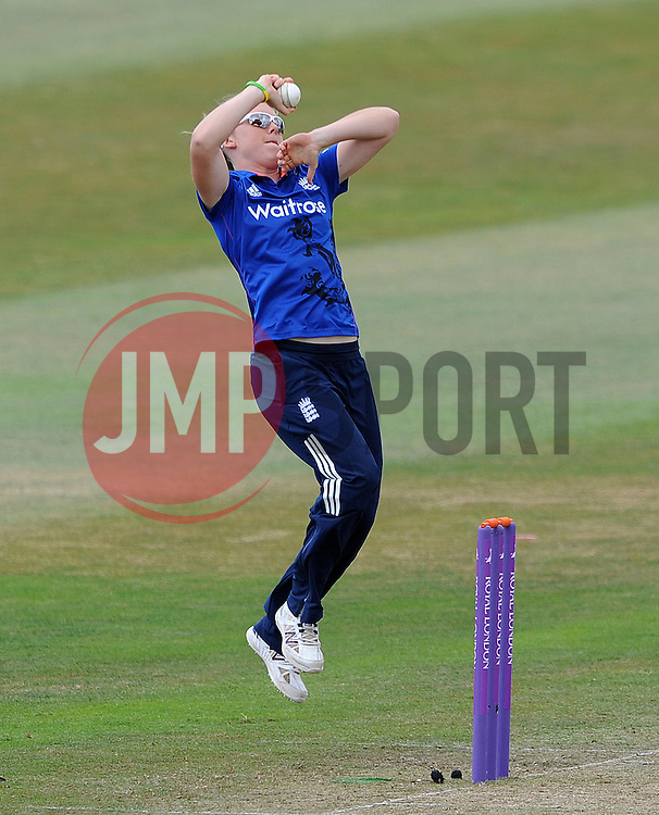 England's Heather Knight - Photo mandatory by-line: Harry Trump/JMP - Mobile: 07966 386802 - 21/07/15 - SPORT - CRICKET - Women's Ashes - Royal London ODI - England Women v Australia Women - The County Ground, Taunton, England.
