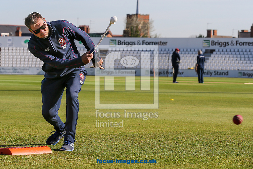 David Ripley, Northamptonshire CCC head coach, during day two of the Friendly match at the County Ground, Northampton<br /> Picture by Andy Kearns/Focus Images Ltd 0781 864 4264<br /> 03/04/2017