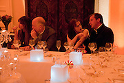 JEMIMA KHAN; JOHN MALKOVICH; HELENA BONHAM CARTER; MATTHEW FREUD, Freud Museum dinner, Maresfield Gardens. 16 June 2011. <br /> <br />  , -DO NOT ARCHIVE-© Copyright Photograph by Dafydd Jones. 248 Clapham Rd. London SW9 0PZ. Tel 0207 820 0771. www.dafjones.com.