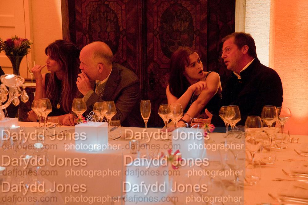 JEMIMA KHAN; JOHN MALKOVICH; HELENA BONHAM CARTER; MATTHEW FREUD, Freud Museum dinner, Maresfield Gardens. 16 June 2011. <br /> <br />  , -DO NOT ARCHIVE-© Copyright Photograph by Dafydd Jones. 248 Clapham Rd. London SW9 0PZ. Tel 0207 820 0771. www.dafjones.com.