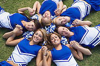 Cheerleaders Arranged in Circle