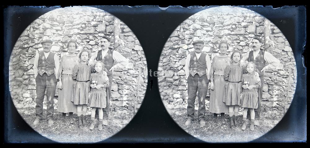 peasant family posing France circa 1920s