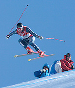 2/10/06 -- The 2006 Torino Winter Olympics -- Sestriere , Italy. -- Men's Downhill Training -- .****** This information is from the original assignment and is for reference only.  Please remove from final caption. *********** ..Photo by Scott Sady, USA TODAY staff.