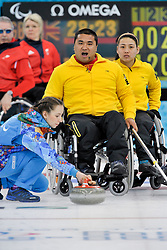 Haito Wang, Guangqin Xu, Wheelchair Curling Finals at the 2014 Sochi Winter Paralympic Games, Russia