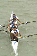 Seville, Andalusia, SPAIN<br /> <br /> 2002 World Rowing Championships - Seville - Spain Sunday 15/09/2002.<br /> <br /> Rio Guadalquiver Rowing course<br /> <br /> ITA M4- Bow. Niccolo MORNATI, Raffaello<br /> LEONARDO,  Lorenzo CARBONCINI, and Carlo MORNATI<br /> <br /> <br /> [Mandatory Credit:Peter SPURRIER/Intersport Images]