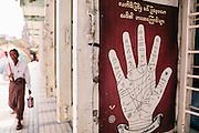 Fortune tellet at Sule Pagoda. Yangon, Myanmar