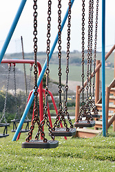 Deserted playground in Dorset during Coronavirus lock down, March 2020 UK