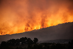 July 11, 2017 - Naples, Italy - Naples wildfires have quickly spread on Vesuvio, threatening hundreds of home, Firefighters battle Vesuvio wildfires. (Credit Image: © Paolo Manzo/NurPhoto via ZUMA Press)
