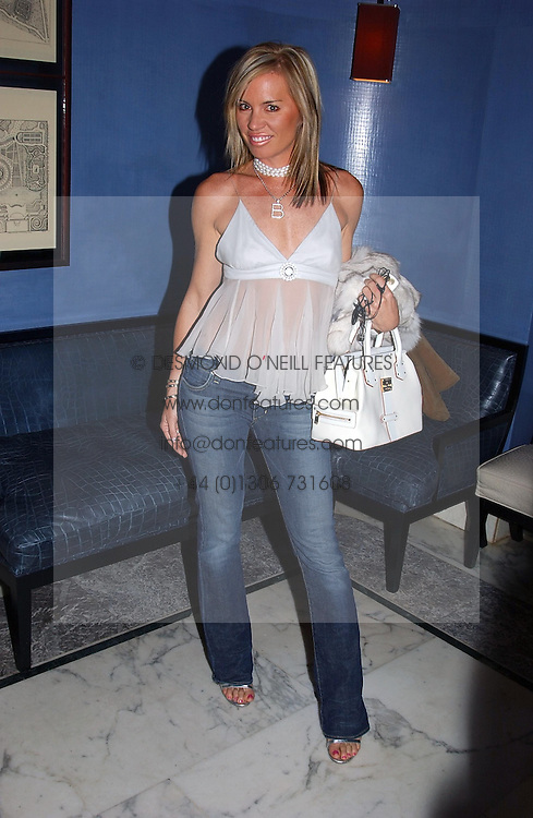 ANNABELLE BOND she recently climbed Mount Everest at a party to celebrate the launch of Michelle Watches held at the Blue Bar, The Berkeley Hotel, London on 7th October 2004.<br />