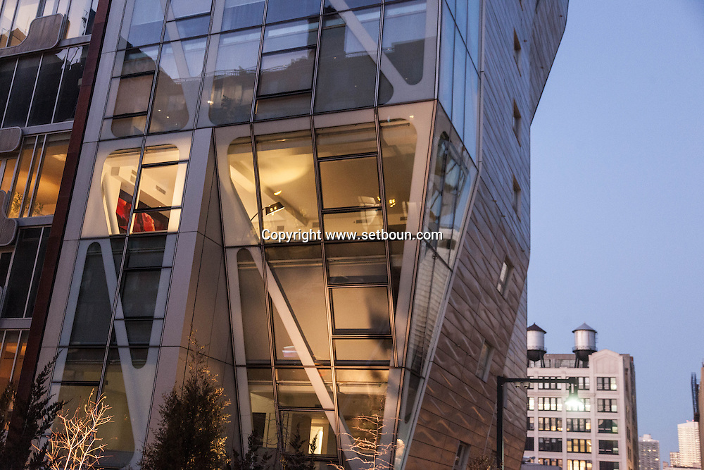 New York HL23 by frank Denari, a 14-story condominium tower at 10th Avenue and 23rd Street in west Chelsea