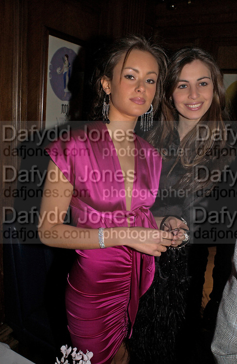Camilla Al Fayad and Oriana Moufarrige, Tatler magazine Little Black Book party, Tramp. Jermyn St. 10 November 2004. ONE TIME USE ONLY - DO NOT ARCHIVE  © Copyright Photograph by Dafydd Jones 66 Stockwell Park Rd. London SW9 0DA Tel 020 7733 0108 www.dafjones.com