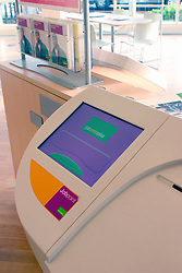 Jobpoint touchscreen in Acton Job Centre Plus; newly built 2004