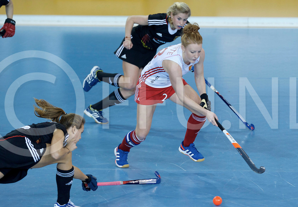 Prague - EuroHockey Indoor Championship (W) 2014<br /> 11 GER v ENG (Pool A)<br /> foto: Nicola White.<br /> FFU PRESS AGENCY COPYRIGHT FRANK UIJLENBROEK
