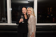 EVGENIA VAN DER GEEST; LIZ BREWER, Liz Brewer Festive Celebration hosted by Daphne Mckinley Edwards chairman of the Sean Edwards , Foundation at Altitude. Millbank Tower, London SW1. 3 DECEMBER 2016.