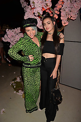 Jaime Winstone and Charli XCX at the Warner Music Group and British GQ Summer Party in partnership with Quintessentially held at Nobu Shoreditch Willow Street, London England. 5 July 2017.<br /> Photo by Dominic O'Neill/SilverHub 0203 174 1069 sales@silverhubmedia.com