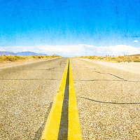 The Open Road - Shot on the western border of the Death Valley National Park in California.