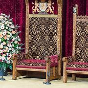 NLD/Den Haag/20170919 - Prinsjesdag 2017, de troon in de Ridderzaal