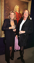 Left to right, the HON.MRS THOMAS WATSON and LADY ALEXANDRA CARNEGIE, at a party in London on 9th March 2000.OBZ 27