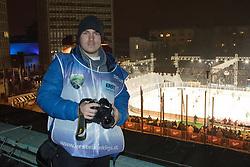 Martin Metelko during ice hockey match between HDD Telemach Olimpija and HDD SIJ Acroni Jesenice at Winter Classic of HDD Telemach Olimpija called Pivovarna Union Ice Fest 2014, on December 18, 2014 on Republic Square, Ljubljana, Slovenia. (Photo By Matic Klansek Velej / Sportida.com)
