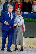 AMSTERDAM - Prinses Margarita samen met Isabell Werth tijdens de wereldbeker kwalificaties dressuur op de 60e editie van Jumping Amsterdam. copyrught robin utrecht