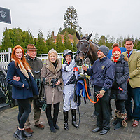 Arch Villain - Jim Crowley with winning connections<br /> The 32Red Conditions Stakes Cl2<br /> Lingfield Park<br /> 17/2/16.<br /> ©Cranhamphoto.com
