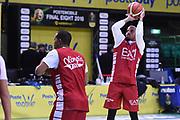 Theodore Jordan<br /> Allenamento EA7 Emporio Armani Milano<br /> PosteMobile Final8 Firenze 2018<br /> Firenze 15/02/2018<br /> Foto Ciamillo-Castoria / GiulioCiamillo