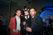 DAVID BAKER; LUKE ABBY; CLAUDIO NAPOLITANO, NME Awards after-party. Sanderson Hotel. 29 February 2012