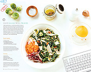 Desk lunch feature, photography & styling. Design by Jenny Reed
