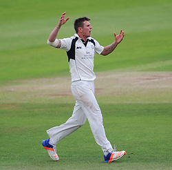 Harry Podmore of Middlesex reacts to a chance.  - Mandatory by-line: Alex Davidson/JMP - 10/07/2016 - CRICKET - Cooper Associates County Ground - Taunton, United Kingdom - Somerset v Middlesex - Specsavers County Championship Division One