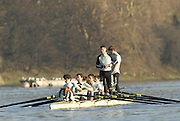 "Putney, Great Britain, Crews member's  relieve themslves before the 2007 Cambridge University Trial Eights,  11/12/2007 [Mandatory Credit Peter Spurrier/Intersport Images]..CUBC. .One Night Stand.  Bow, Alastair MACLEOD, 2. Shane O""MARA, 3. John HEDER, 4. Ryan MONAGHAN, 5. Dan SHAUGHNESSY,, 6 Tom RANSLEY, 7. Tom EDWARDS   Stroke Dave Billings, Cocx, Rebecca DOWBIGGIN...True Love. Bow Spenser HUNSBERGER, 2, James STRAWSON, 3. Henry PELLY, 4. Bartosz SZCZYRBA, 5. Pete MARSHLAND, 6. Tobias GARNETT , 7 Colin SCOTT Stroke Tim PERKINS, Cox Russell GLENN. , Rowing Course: River Thames, Championship course, Putney to Mortlake 4.25 Miles, , Varsity Boat Race. , Pete Marsland"