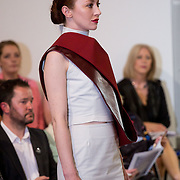 13.05.2016.             <br /> A model showcases designs by Michelle Downes titled 'Mocking Jay' at the much anticipated Limerick School of Art & Design, LIT, (LSAD) Graduate Fashion Show on Thursday 12th May 2016. The show took place at the LSAD Gallery where 27 graduates from the largest fashion degree programme in Ireland showcased their creations. Ranked among the world's top 50 fashion colleges, Limerick School of Art and Design is continuing to mold future Irish designers.. Picture: Alan Place/Fusionshooters