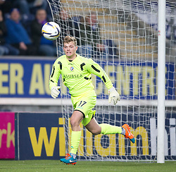 Cowdenbeath's keeper Robbie Thomson. <br /> Falkirk 1 v 0 Cowdenbeath, William Hill Scottish Cup game played 29/11/2014 at The Falkirk Stadium.