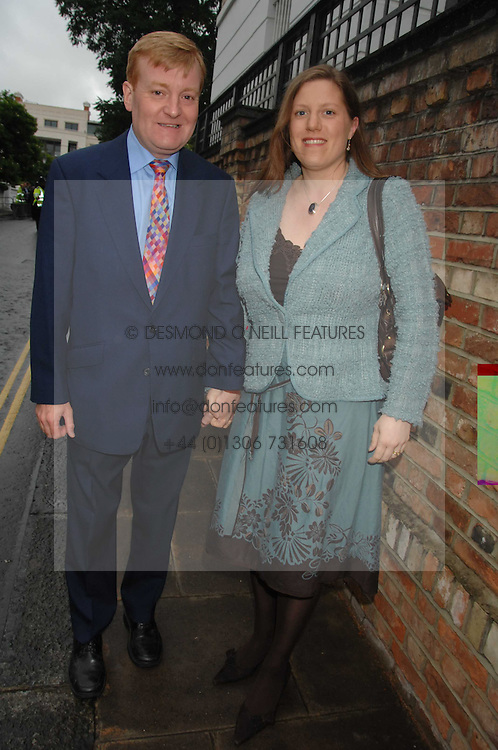 CHARLES KENNEDY and his wife SARAH at the annual Sir David &amp; Lady Carina Frost Summer Party in Carlyle Square, London SW3 on 5th July 2007.<br />