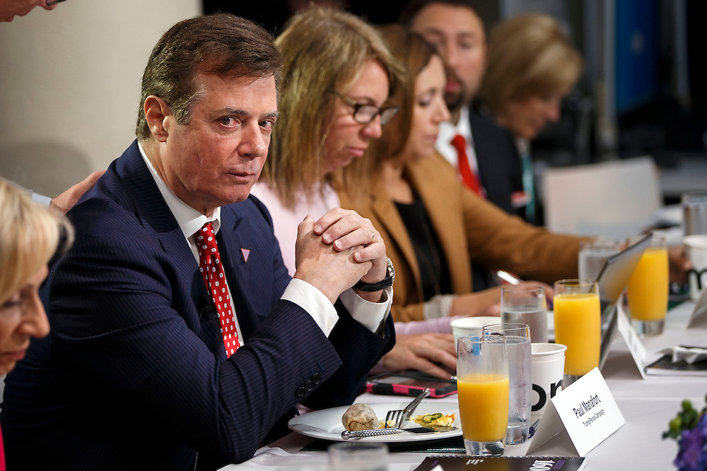 Paul Manafort, campaign manager for Donald Trump, presumptive 2016 Republican presidential nominee, speaks during a Bloomberg Television editorial breakfast at the Republican National Convention (RNC) in Cleveland, Ohio, U.S., on Monday, July 18, 2016.  © 2016 Patrick T. Fallon
