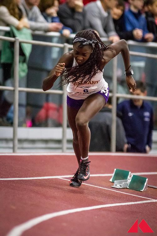 ECAC Indoor Champs, womens 400 heat 2 Claxton, Grace            JR Albany
