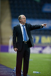 Cowdenbeath's manager Jimmy Nicholl.<br /> Falkirk 1 v 0 Cowdenbeath, William Hill Scottish Cup game played 29/11/2014 at The Falkirk Stadium.