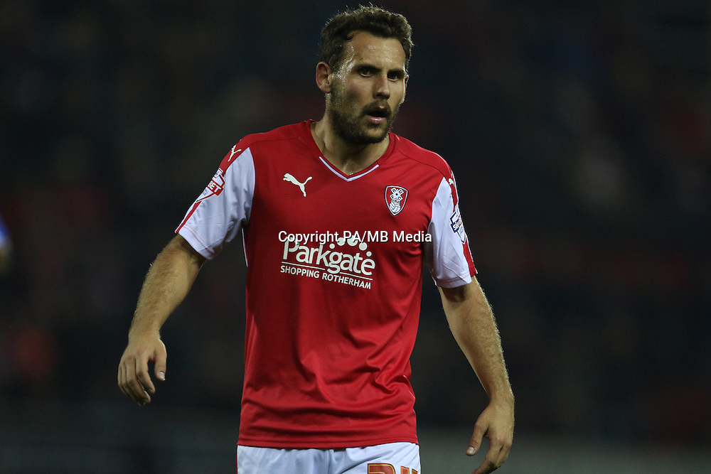 Rotherham United's Tony Andreu during the Sky Bet League Championship match at the New York Stadium, Rotherham.