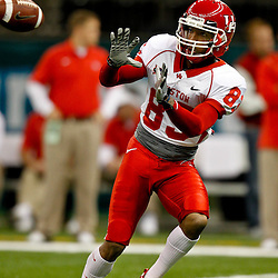 November 10, 2011; New Orleans, LA, USA;  Houston Cougars wide receiver Patrick Edwards (83) warms up prior to kickoff of a game against the Tulane Green Wave at the Mercedes-Benz Superdome.  Mandatory Credit: Derick E. Hingle-US PRESSWIRE