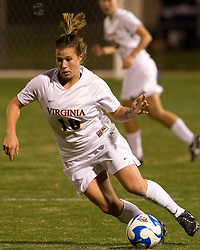 Virginia forward/midfielder Kelly Quinn (10)..The Virginia Cavaliers defeated the Loyola (MD) Greyhounds 4-1 in the first round of the NCAA Women's Soccer tournament held at Klockner Stadium in Charlottesville, VA on November 16, 2007.