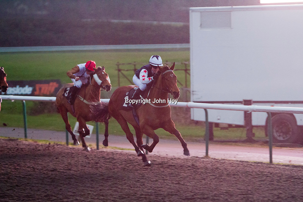 Cut And Thurst and Nicole Nordblad winning the 3.50 race